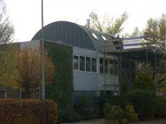 Opbouw woning pvc+roeven (zink-look)